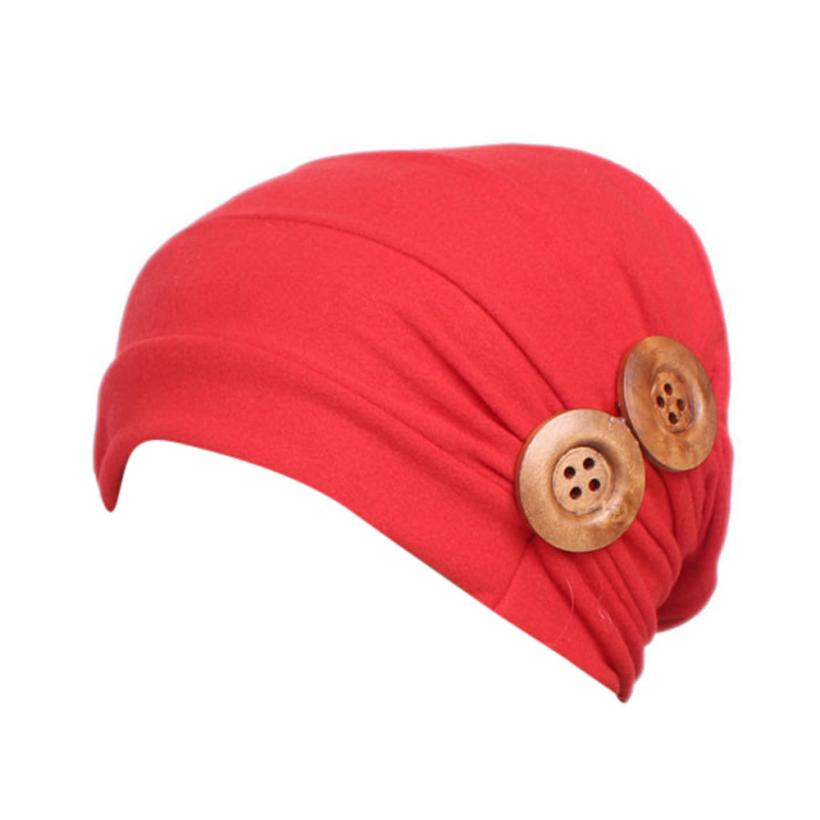 58b06578 US $2.19 50% OFF|for children 3 8 years old Children's fold wooden scarf  cap Baby Girls Boho Hat Beanie Scarf Turban Head Wrap Cap gift Apr 11-in  Hats ...