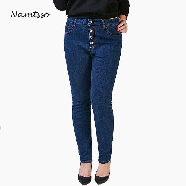 Stretch Denim Jeans de Señoras de la Alta cintura de las mujeres ...
