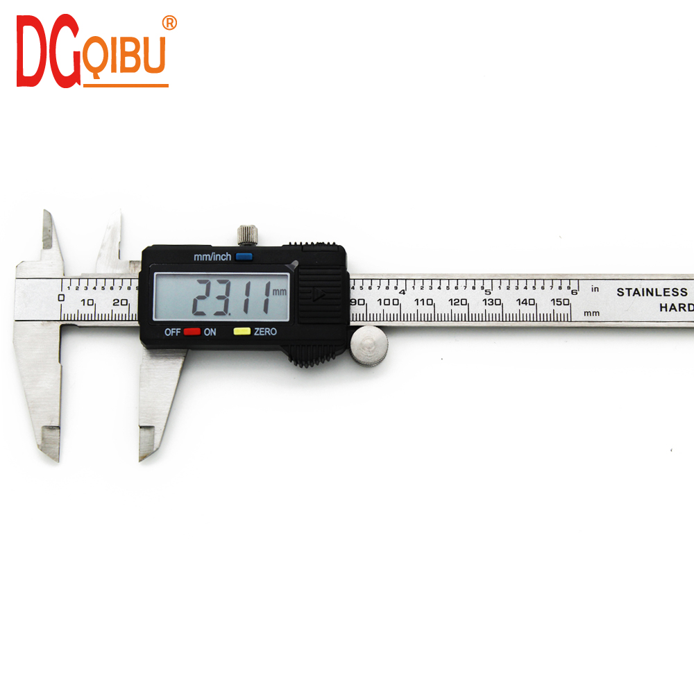 Electronic Digital Vernier Caliper 150mm Stainless Steel Rule Gauge Micrometer 6 Inch LCD Measuring Ruler Tool