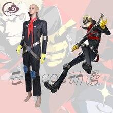 Персона 5 Джокер Косплей Костюм Phantom вор форма цельная одежда + галстук + перчатки + kneeped