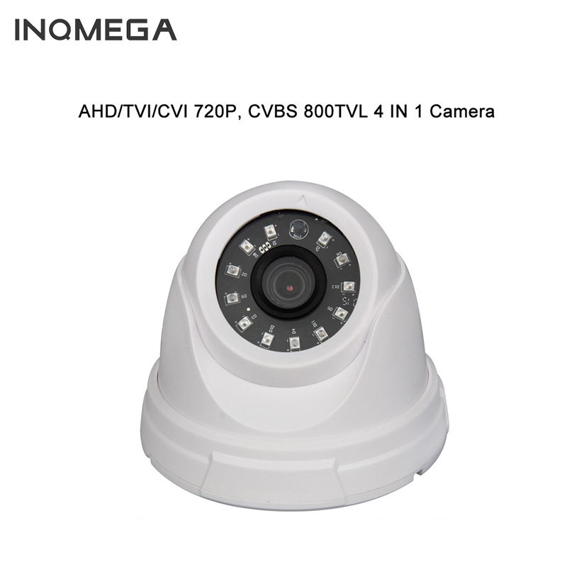 INQMEGA 2017 New AHD/TVI/CVI/CVBS Plastic IR Dome Camera Cheap With IR CUT OSD White AHD IP Camera 2mp 1080p surveillance ptz ir speed dome camera 10x optical zoom cvi ahd tvi cvbs osd menu transfer hd coaxial control rs485