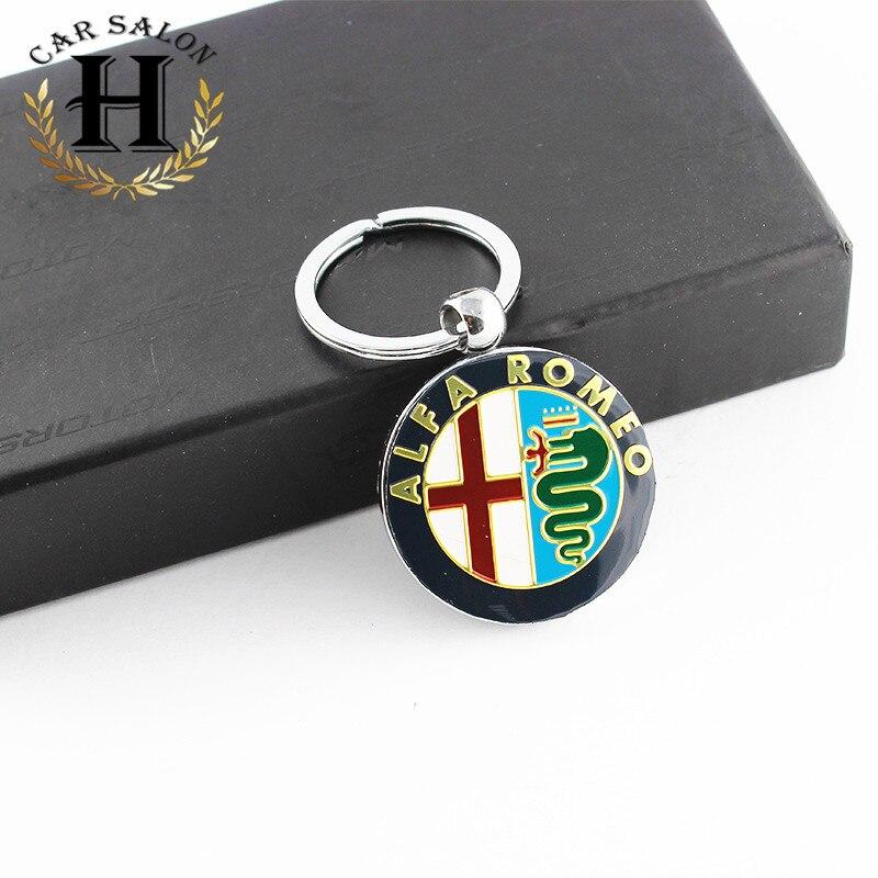 1pcs ALFA ROMEO Car Logo Key Ring Emblem Keychain Key