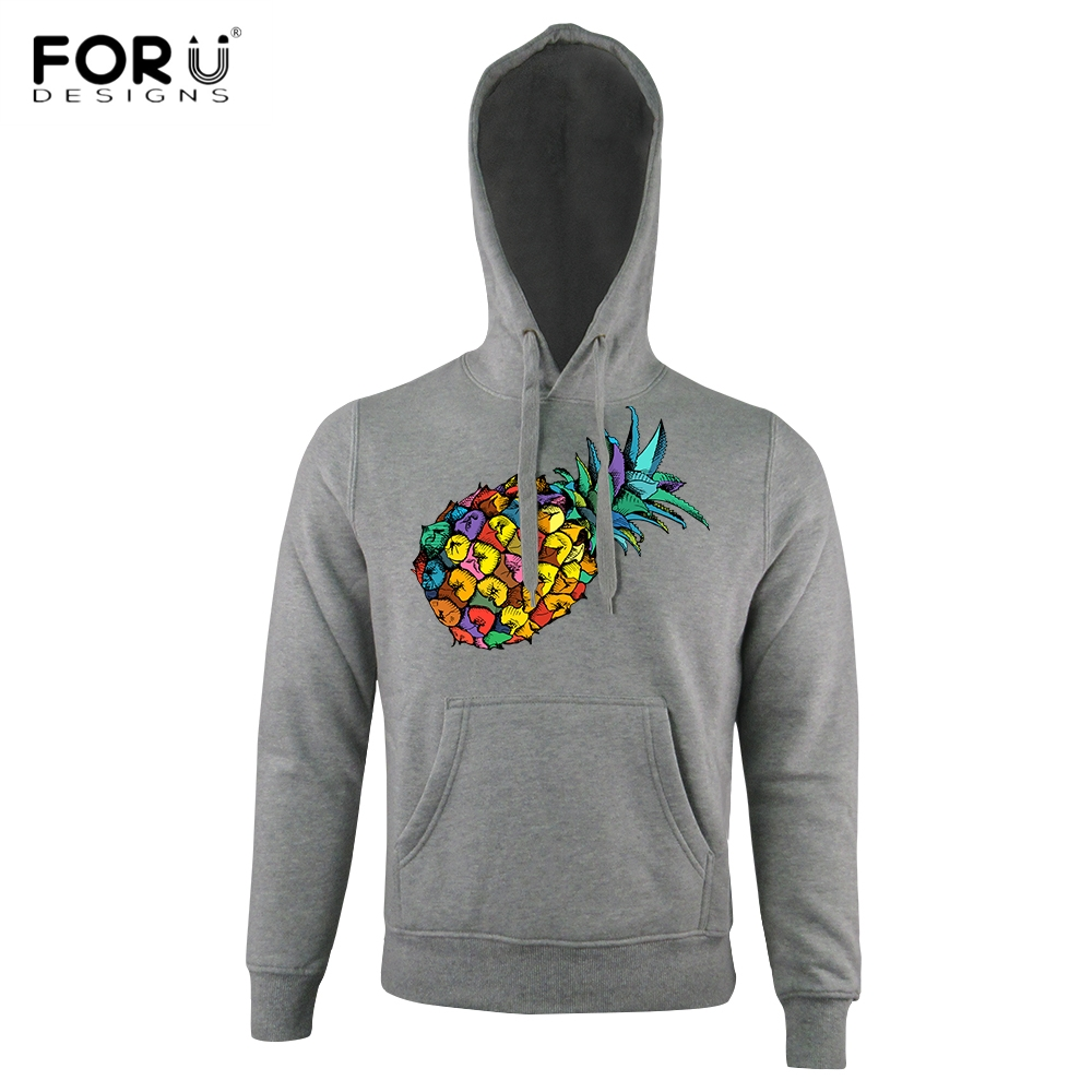 FORUDESIGNS Stylish 3D Fruit Pineapple Printed Women/Men Hoodies Punk Long Sleeve Top Clothes Outerwear Winter Autumn Sweatshirt