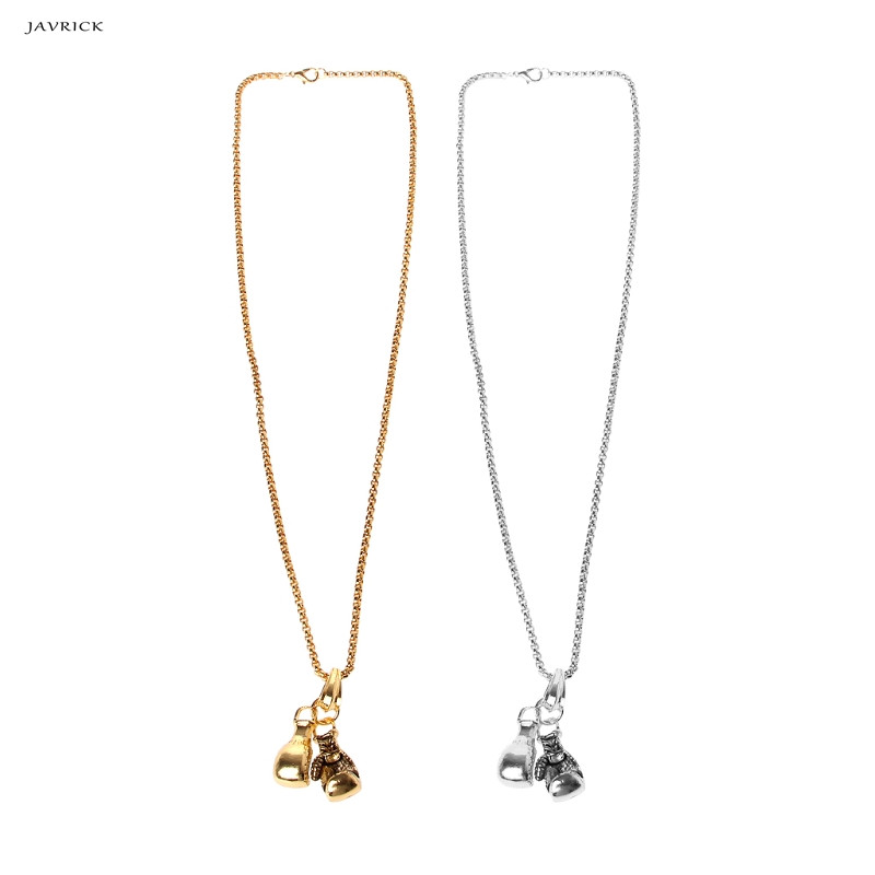 JAVRICK Brand Men Necklace&Pendant Dorming Stainless Chain Pair Boxing Glove Chain Pendants Necklace Sport Fitness Jewelry Gift