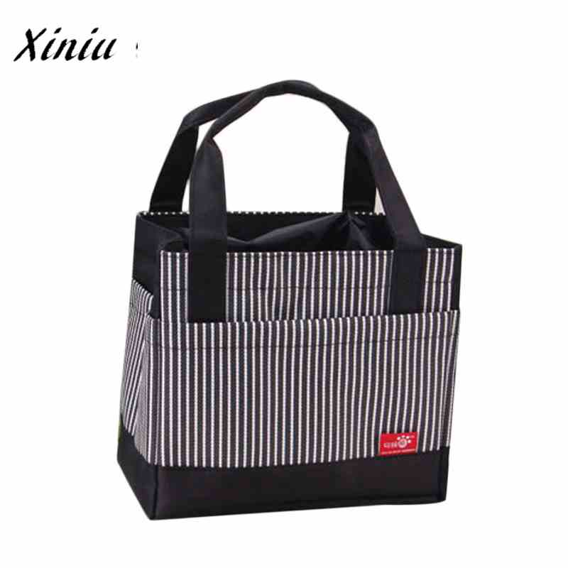 Lunch Bag for Women kids Men Cooler Tote canvas lunch bag Insulation Package Portable Lunch Bag Lunch Box Bag A7623 striped tote lunch bag