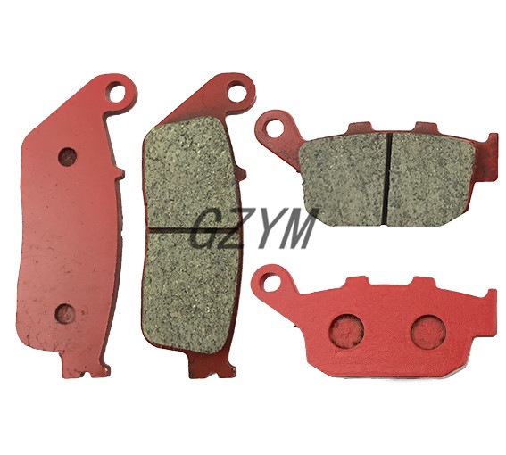 Motorcycle Ceramic Front Rear Brake Pads For Honda CBR250RR MC19 1988-1989 2 pairs motorcycle brake pads for honda cbr250 cbr 250 rj rk rk2 mc19 1988 1989 black brake disc pad