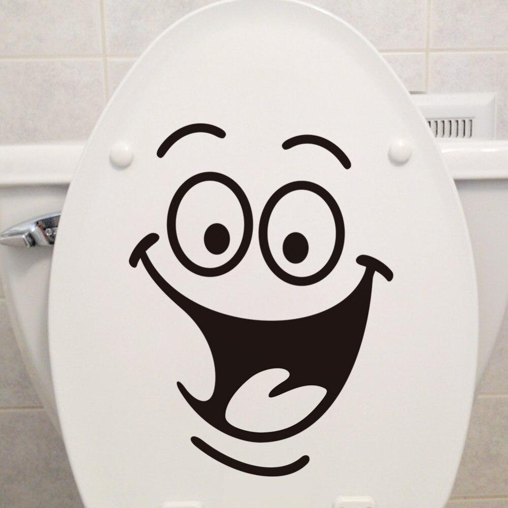 Washing bathroom walls - Smile Face Toilet Stickers Home Decoration Wall Decals Fridge Washing Machine Sticker Bathroom Car Gift
