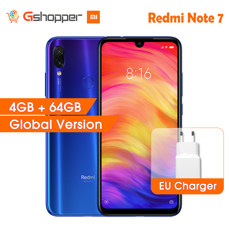 """Global Version Xiaomi Redmi Note 7 4GB RAM 64GB ROM Mobile Phone Snapdragon 660 Octa Core 6.3"""" FHD+ 48MP Dual Camera 4000mAh CE-in Cellphones from Cellphones & Telecommunications    1"""