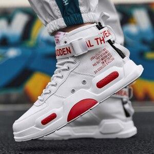 Image 2 - YRRFUOT erkekler moda rahat ayakkabılar Sneakers bahar yüksek en Trend erkek ayakkabıları marka rahat nefes su geçirmez yürüyüş ayakkabısı