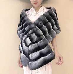 Arlenesain custom 2019 новый модный дизайн роскошный мех шиншиллы Великолепная женская накидка шарф 30*180 см