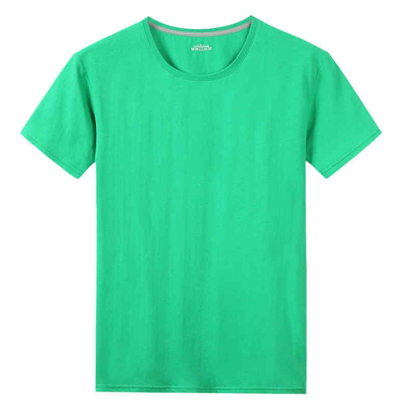 Vente en gros livraison directe t-shirts hommes femmes 100% coton à manches courtes solide mâle femme t-shirts col rond grande taille 5XL t-shirt