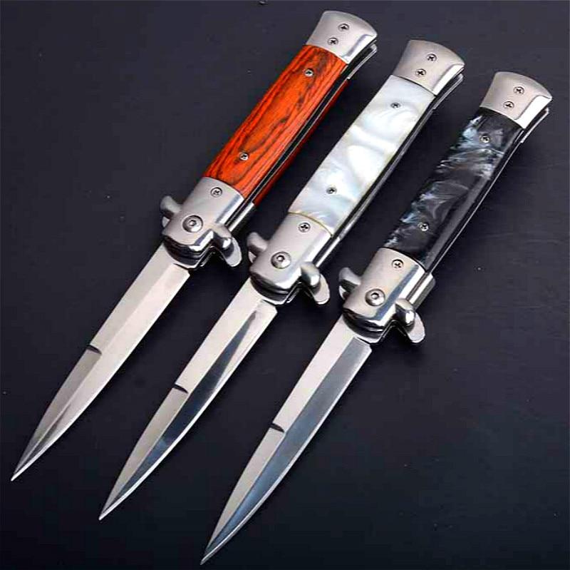 PEGASI CS Claw Knife Quick Folding Knife 440C Acrylic Wood Handle Pocket Folding Knife Camping Hunting Survival EDC Tool