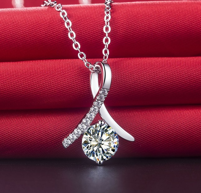Fabulous figurine shape 1ct authentic synthetic diamonds engagement fabulous figurine shape 1ct authentic synthetic diamonds engagement sterling silver pendant necklace girl best love gift in pendants from jewelry aloadofball Images
