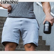 CARWORNIC 2019 Summer Shorts Mens Casual Workout Trunks Beach Man Cotton Breathable Gyms Fitness Short Trousers