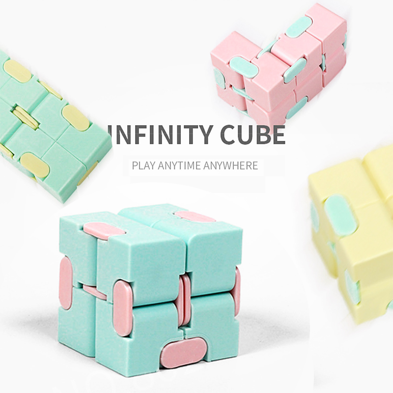 Infinity Cube Mini Fidget Unlimited Cube Decompression Artifacts Flip Cube Uv Augmented Finger Toys Anti Anxiety Stress Gift