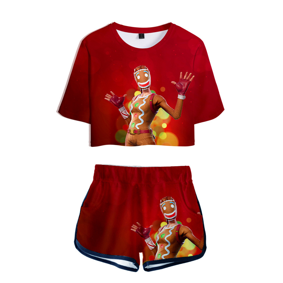Hero Game Women Outfits Two Piece Set Women Outfit 3D T Shirt Women 39 s Suit Shorts Summer Top Ensemble Femme Short Sets for Women in Women 39 s Sets from Women 39 s Clothing