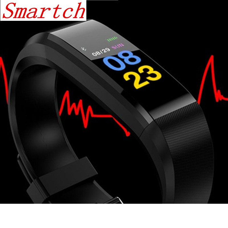 Smartch ID115 Plus HR Smart Band Call Reminder Multi-sport Fitness Tracker 0.96 OLED Heart Rate Sports Wrist band Bracelet