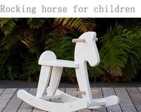 4204 детская лошадка качалка из массива дерева детское кресло качалка детская игрушка подарок на день рождения
