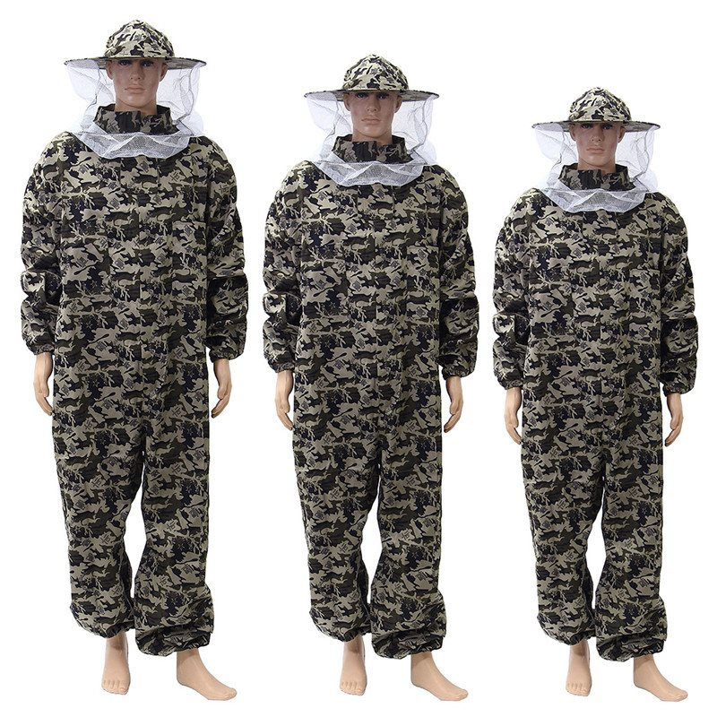 все цены на New Protective Pants Veil Bee Protecting Dress Camouflage Beekeeping Suit Beekeeper Bee Suit Smock онлайн