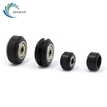 10 Uds rueda de plástico POM pequeña grande v-slot modelos poleas 3D impresora piezas MR105 rodamientos de bolas engranaje de roldana redonda V tipo Perlin parte