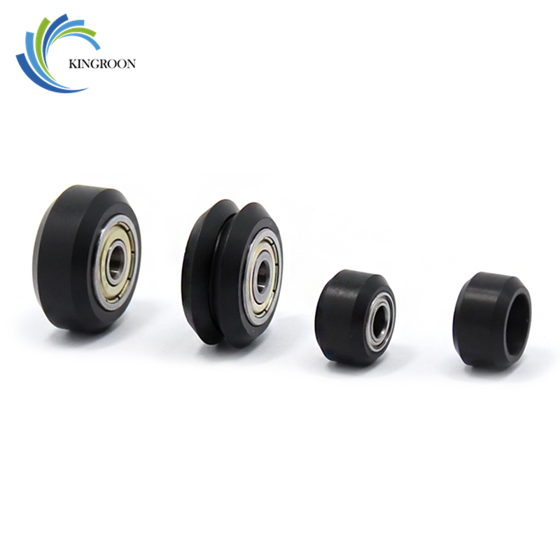 10pcs Plastic Wheel POM Small Big V-slot Models Pulleys 3D Printer Parts MR105 Ball Bearings Round Idler Gear V Type Perlin Part boss mr105