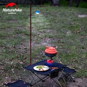 Image 5 - Naturehike Portable Folding Lamp Pole Ultralight Hiking Camping Aluminum Alloy Small Light Pole Travel Picnic 230g