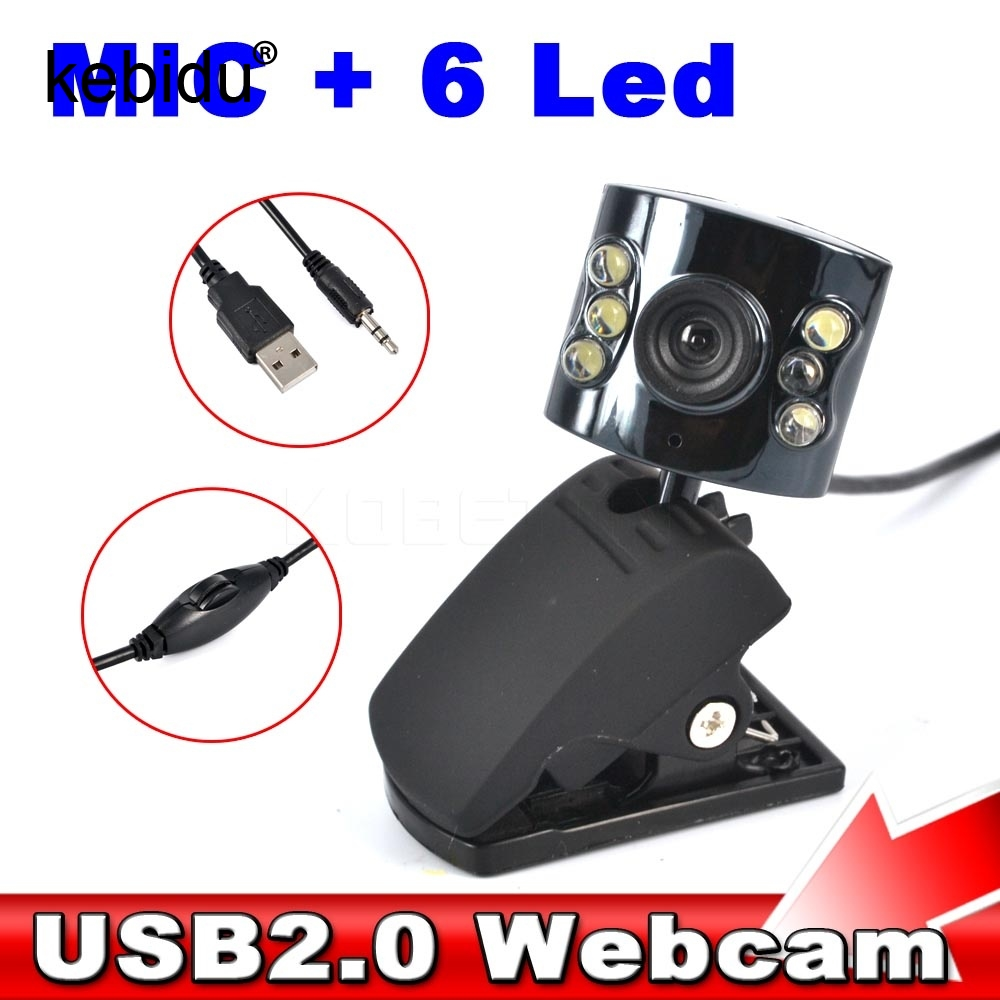 Hot 30 0 Mega Pixel Usb 2 0 Camera Webcam 6 Led Light