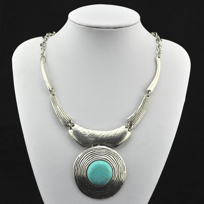 S168 Natural Square Stone Necklace Pendant & Earring & Bracelet Jewlery Set ,Women Gift,Vintage Look,Tibet Alloy