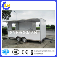 mobile food cart trucks snack food cart can be customized color food trailer