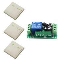 9V 12V 24V Smart Home Wall Switch Remote Control Switch 2 Buttons 1CH Wireless Remote Control