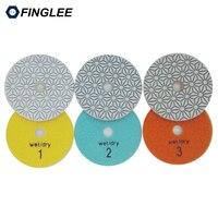 3 Step Polishing Pad 4 Inch 100mm Quartz Diamond Polishing Pads Premium Stone Circle Resin Polishing