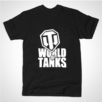 2015 Summer Style Funny World Of Tanks T Shirt Men Manufacture World War Ii Tank T