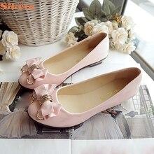 SIKETU Style Flats Spring Autumn Toe Flat Heel Bow Tie Footwear Ladies Style Ladies's Flat Footwear Jn22 Y25