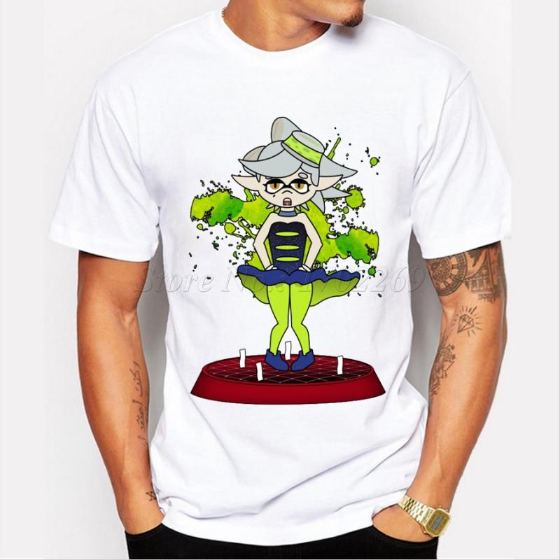 New Fashion Men's Customized T-shirt Cartoon Daisy Marlyn Monroe Design  Creative Pritned Basic Tops Casual Funny Tee
