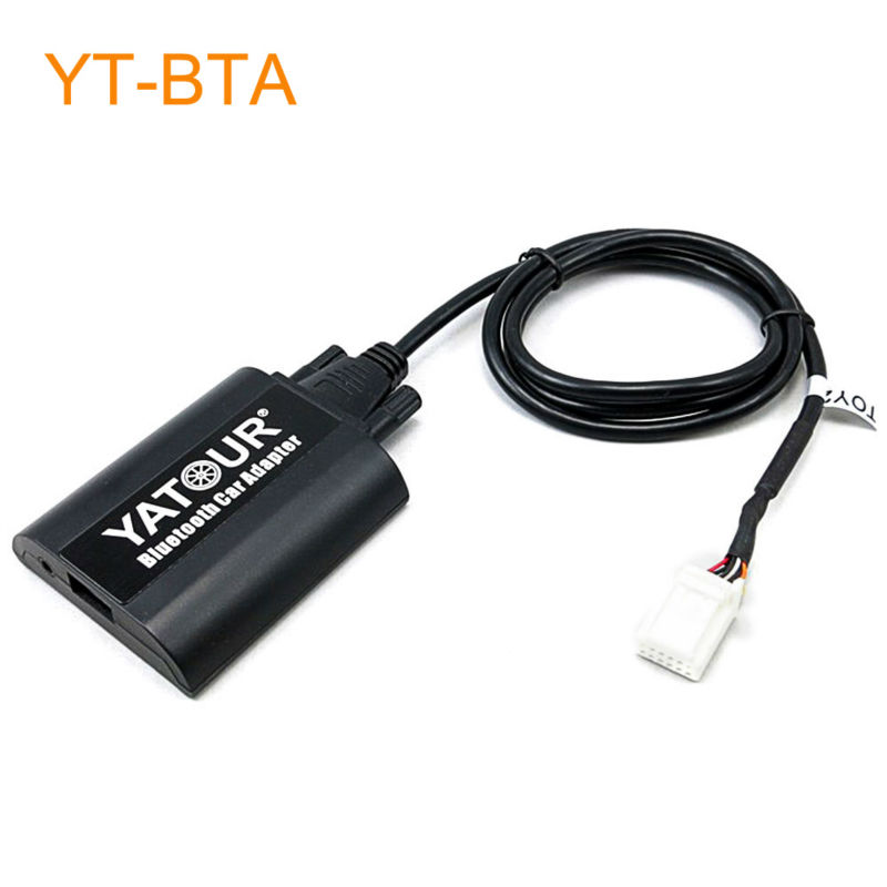 Yatour BTA Car Bluetooth Adapter Kit for Factory OEM Head Unit Radio for Toyota Solara Tacoma Tundra Venza Vitz Yaris yatour car adapter aux mp3 sd usb music cd changer 6 6pin connector for toyota corolla fj crusier fortuner hiace radios