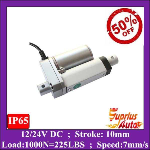 цена на 50% Discount ! 12v super mini 10mm stroke linear actuator with 225lbs/ 1000N load electric linear actuator