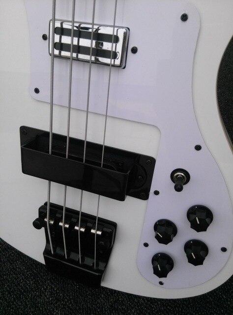2019 New + Factory + Rickenback 4003 fireglo 4 string bass alpine white ricken 4003 ricken bass white finish all black hardware