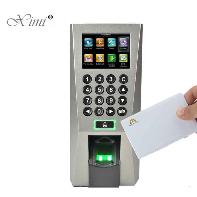 Biomtric Fingerprint Time Attendance And Access Control With TCP/IP USB ZK F18 Fingerprint Access Controller With MF Card Reader