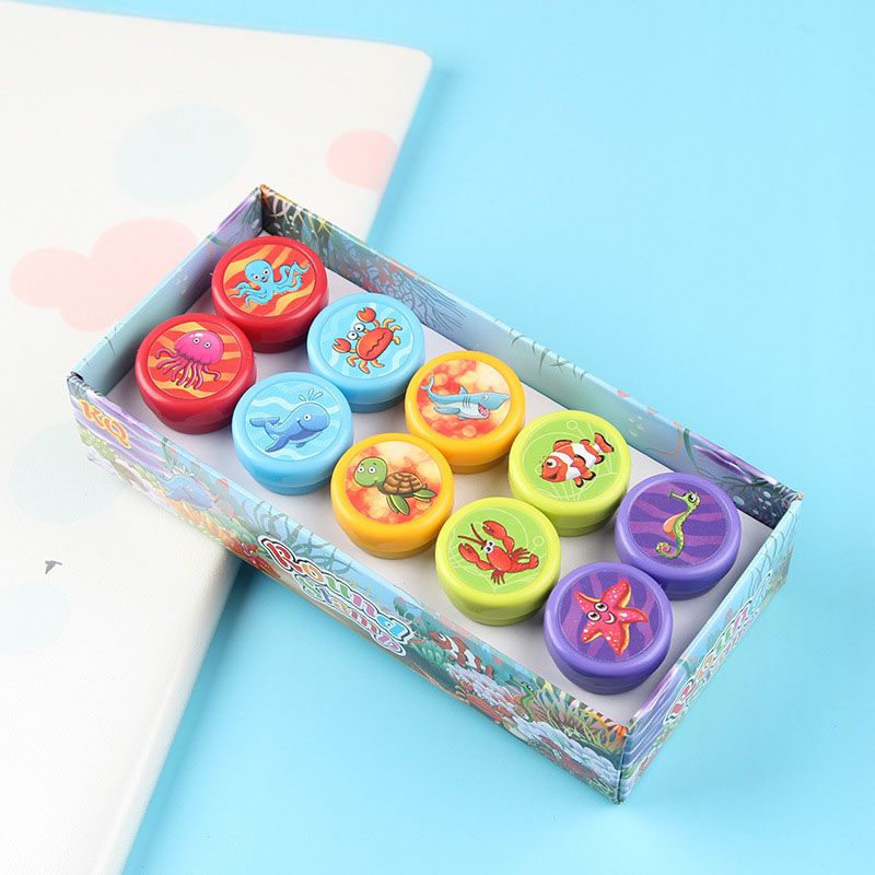 10pcs-Kids-Cartoon-Stamp-Children-Custom-Plastic-Rubber-Self-Inking-Stampers-Toys-Learning-Educational-Toys-For-Children-2
