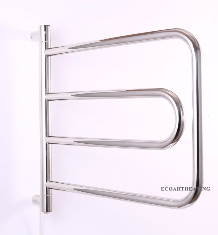 40 Вт электрическая Подогреваемая вешалка для полотенец рейка теплая круглая изогнутая форма Бар