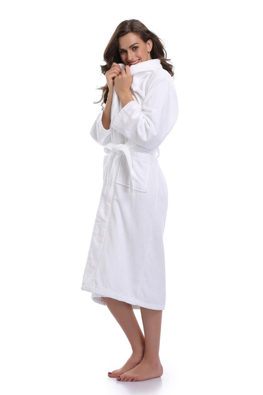 a578e186fa ... Warm Cotton Female Sexy Bridal Bridesmaid Long Plush Bathrobes White  Dressing Gowns For Women Dress. В избранное. gallery image. Наведите мышкой  для ...