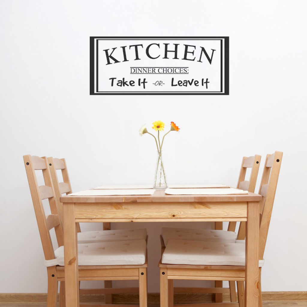 D463 Wall Sticker Kitchen Dinner Choices Take it Leave It Dining Room Decal Art Decor