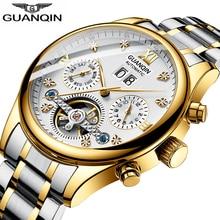 GUANQIN 2019 Automatic clock men Mechanical watch Tourbillon waterproof top brand luxury dropshipping date relogio masculino