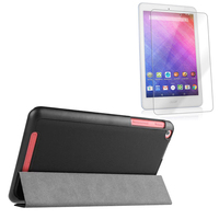 Ultra Slim Magnetic Luxury Folio Stand Leather Case Sleep Smart Cover + Screen Protector For Acer Iconia One 8 B1-820 B1 820 8