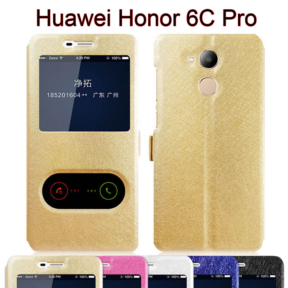 huawei honor 6c pro case flip cover view window stand case. Black Bedroom Furniture Sets. Home Design Ideas