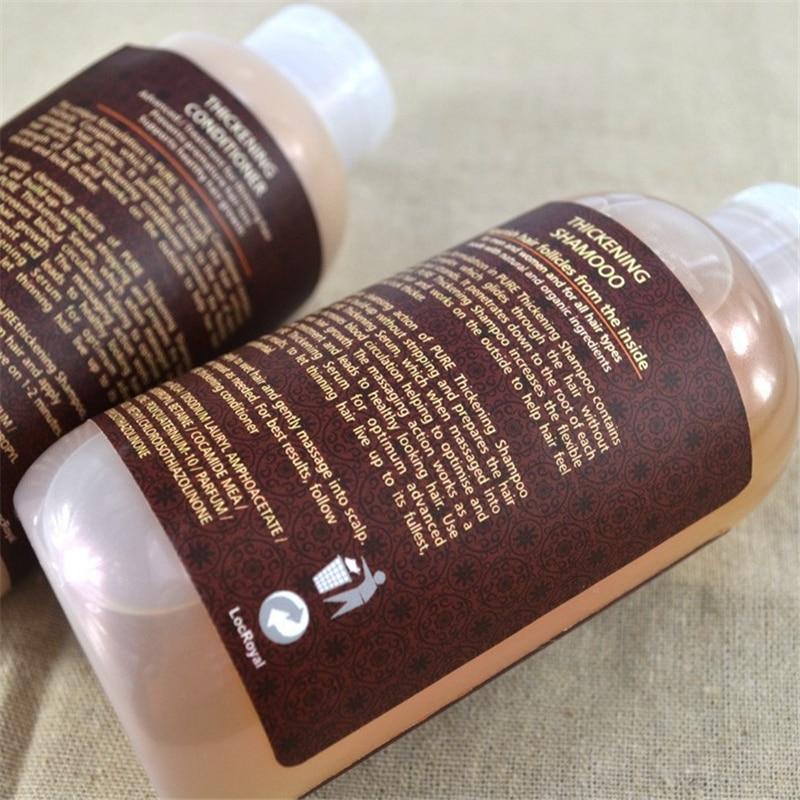 Champú y acondicionador para el crecimiento del cabello pérdida de cabello 3 uds. Un conjunto con aceite de argán que evita el adelgazamiento temprano del cabello para hombres y mujeres - 6