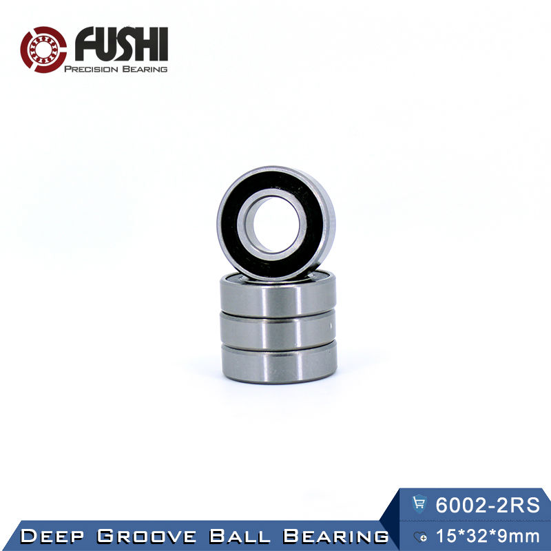 6002RS Bearing ABEC-3 (8 PCS) 15*32*9 mm Deep Groove 6002-2RS Ball Bearings 6002RZ 180102 RZ RS 6002 2RS EMQ Quality купить