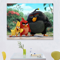 With Frame Cartoon For Kid DIY Coloring Oil Painting By Numbers Kit Drawing Paint On Canvas