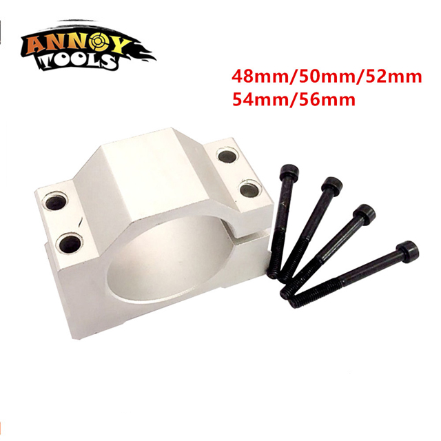 ANNOYTOOLS New 1PC 52mm 48mm Spindle Motor Fixture Mount Bracket Holder For ER11 300W 400W 500W DC Spindle Motor PCB CNC Machine