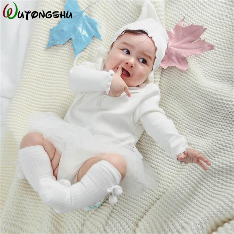 Baby Girl Rompers Newborn Clothes For Princess Girls Long Sleeve Winter Spring Girl Jumpsuits For Birthday Party Baby One-piece mother nest 3sets lot wholesale autumn toddle girl long sleeve baby clothing one piece boys baby pajamas infant clothes rompers